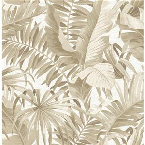 Papier peint « Alfresco Palm Leaf », taupe
