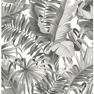 Papier peint « Alfresco Palm Leaf », noir