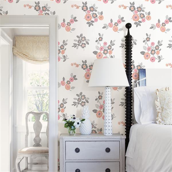 Papier peint « Malaga Floral », rose