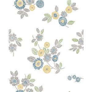Papier peint « Malaga Floral », gris