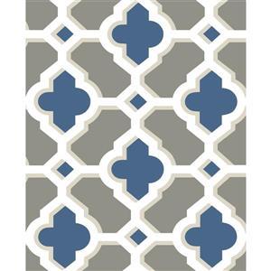 Papier peint « Lido Quatrefoil », bleu marin