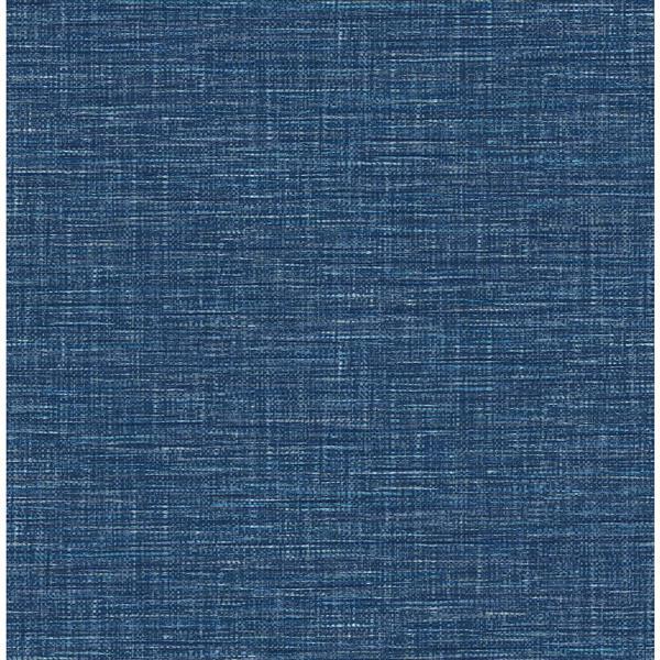 Papier peint « Exhale Faux Grasscloth », bleu