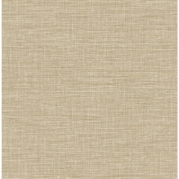 A-Street Prints Taupe Grasscloth Non-Woven Paste The Wall Exhale Faux Wallpaper