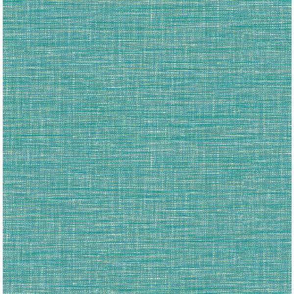 Papier peint « Exhale Faux Grasscloth », sarcelle