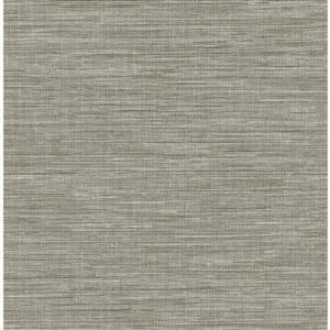Papier peint « Exhale Faux Grasscloth », gris