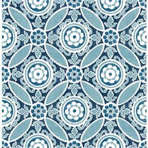 Papier peint « Maya Medallion », bleu
