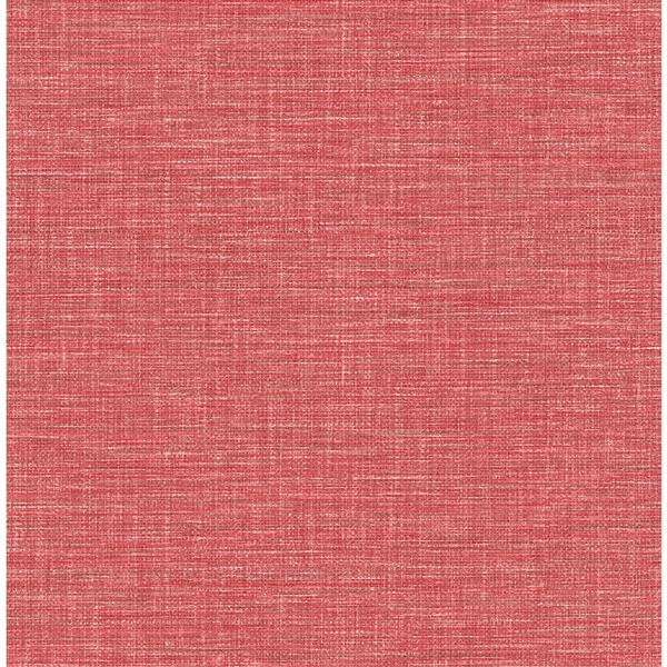 A-Street Prints Coral Grasscloth Non-Woven Paste The Wall Exhale Faux Wallpaper