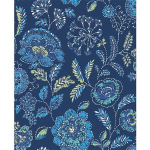 Papier peint « Tropez Jacobean », bleu marin