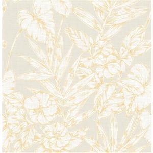 Papier peint « Fiji Floral », jaune