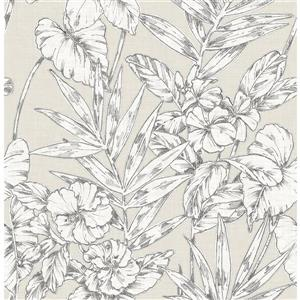 Papier peint « Fiji Floral », beige