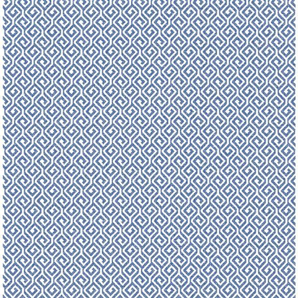 A-Street Prints Sete Greek Key Geometric Grey 57sq-ft Unpasted Wallpaper