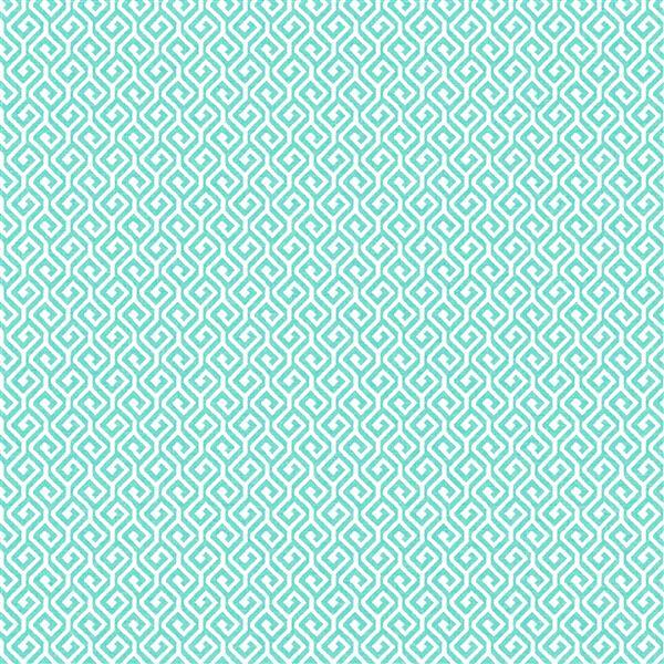 A-Street Prints Sete Greek Key Geometric Aqua 57sq-ft Unpasted Wallpaper