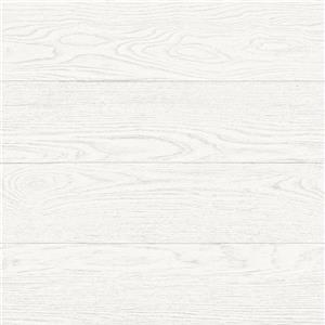 A-Street Prints White Salvaged Wood Wallpaper