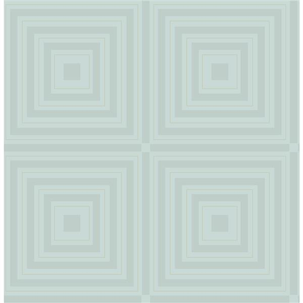 A-Street Prints Ice/White Luminous Geometric Wallpaper 20.5-in