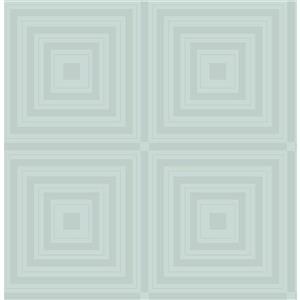 Papier peint « Luminous Geometric », bleu