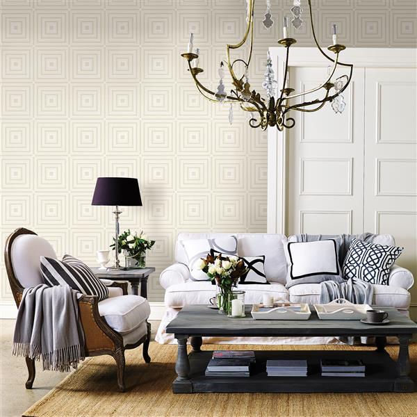 A-Street Prints Platinum/Grey Luminous Geometric Wallpaper 20.5-in