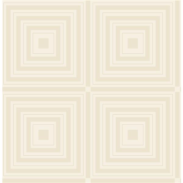 Papier peint « Luminous Geometric », platine