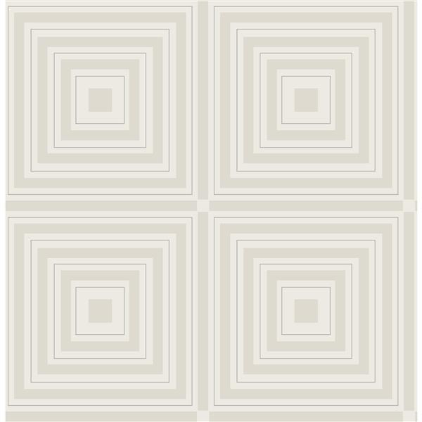 Papier peint « Luminous Geometric », argent