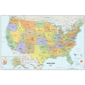 WallPops USA Dry Erase Map Decal