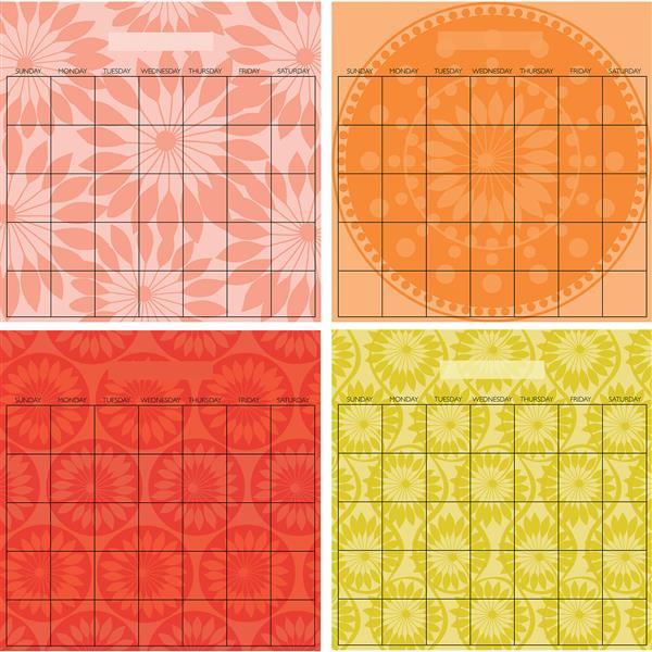 WallPops Carnivalé Dry-erase Calendar Decal Set