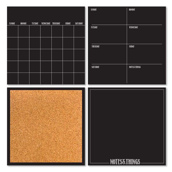 WallPops Peelable Organization Kit - Black