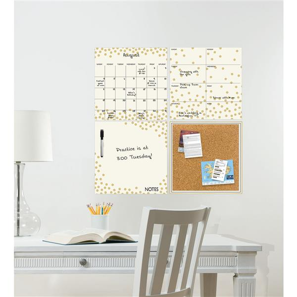 WallPops Peelable Organization Kit - Gold Confetti