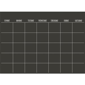 Monthly Calendar Decal - Matte Black