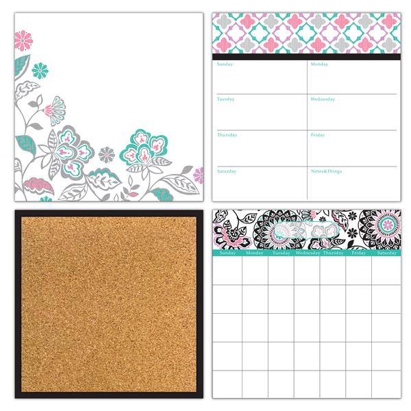 WallPops Peelable Organization Kit - Floral Medley