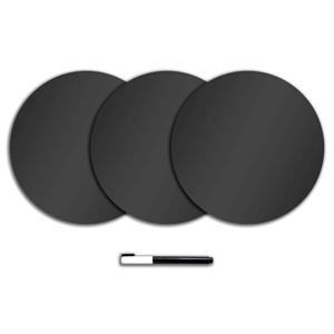Dry Erase Dot Decals - Charcoal