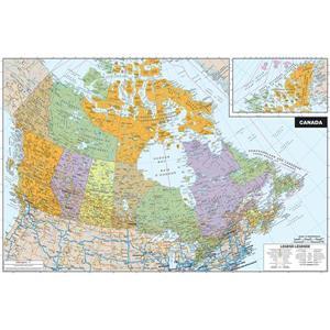 Carte du Canada en vinyle autocollant effaçable à sec de WallPops