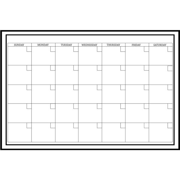 WallPops Large White Monthly Dry Erase Calendar Decal