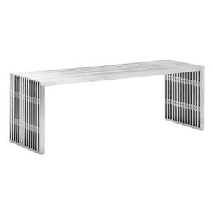 Zuo Modern Windsor Outdoor Bench - 78.7-in x 17.7-in x 15.7-in - Grey