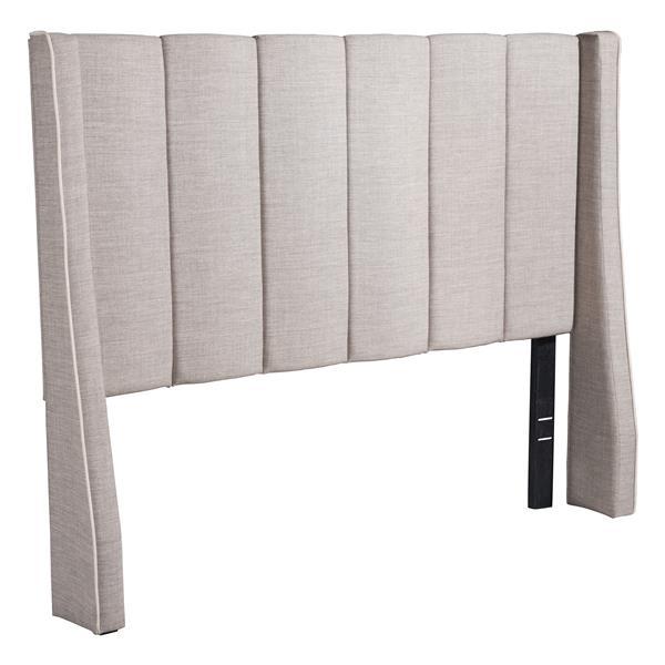 Tête de lit Gilded Age de Zuo Modern, lit double, 61 po, gris pâle