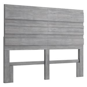 Tête de lit Cavin de Zuo Modern, grand deux places, 62 po, gris