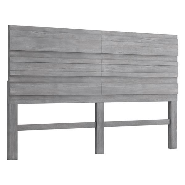 Tête de lit Cavin de Zuo Modern, très grand deux places, 78 po, gris