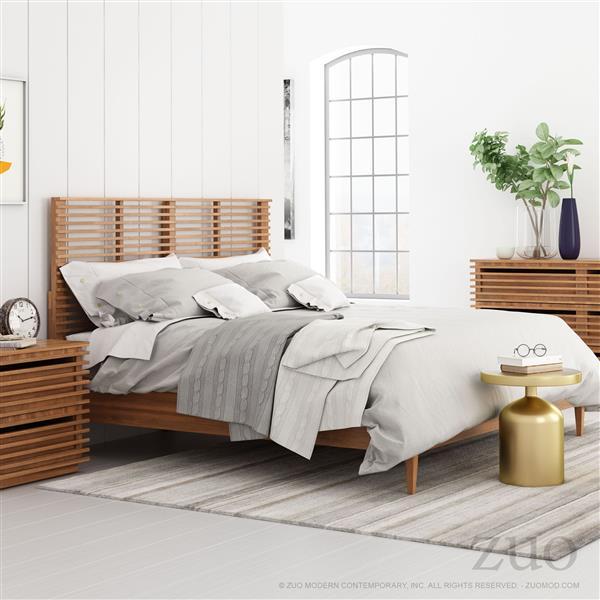 Tête de lit Linea de Zuo Modern, grand deux places, 67,5 po, noyer