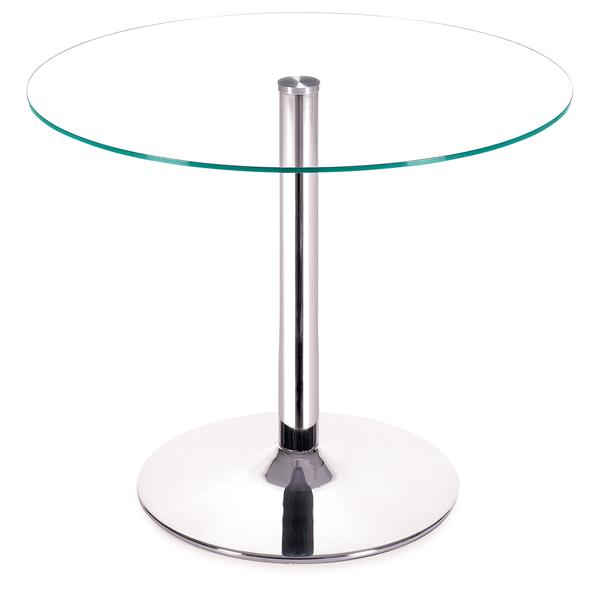 Zuo Modern Galaxy Dining Table - 39-in x 29.5-in - Clear Glass - Chrome Frame
