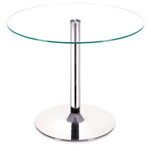Table de salle à manger en verre Galaxy de Zuo Modern, 39 po x 29,5 po, chrome