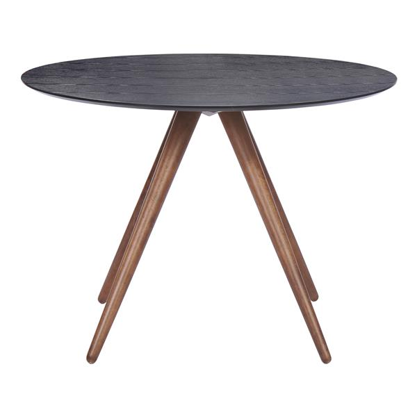Zuo Modern Dining Table - 42-in x 29.9-in - Wood - Black and Brown