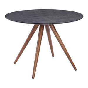 Table de salle à manger ronde de Zuo Modern, 42 po x 29,9 po, bois, gris et brun