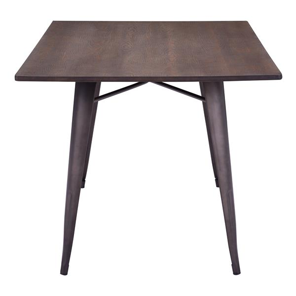 Zuo Modern Titus Dining Table - 59-in x 30.3-in - Rustic Wood - Brown
