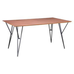 Table de salle à manger Audrey de Zuo Modern, 63 po x 29,9 po, bois, brun pâle