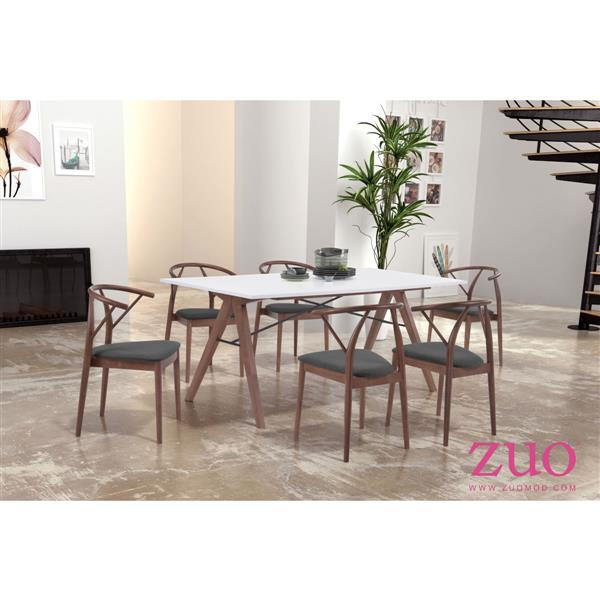 Zuo Modern Saints Dining Table - 70.9-in x 29.5-in - Wood - White