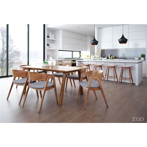 Zuo Modern Sycamore Dining Table - 70.9-in x 29.5-in - Walnut