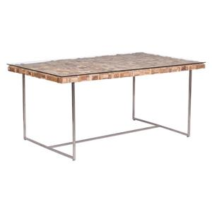 Zuo Modern Collage Dining Table - 63-in x 29.9-in - Wood - Stainless Steel Frame