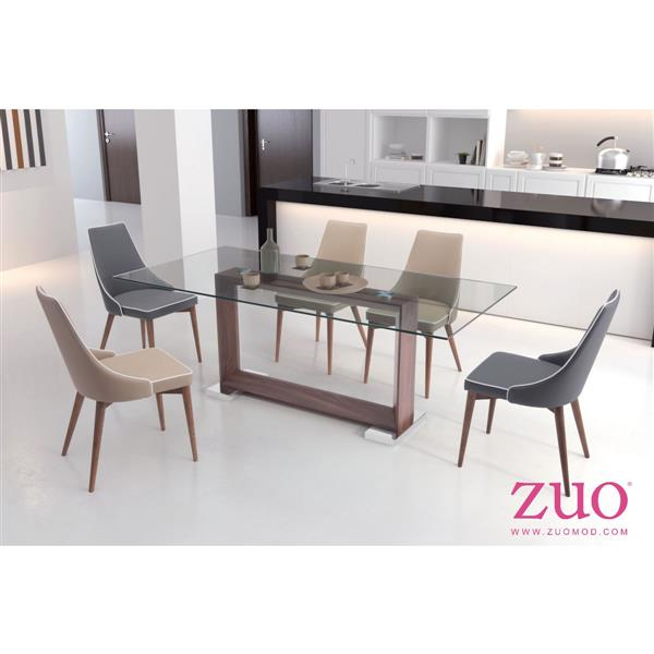 Zuo Modern Oasis Dining Table - 78.7-in x 29.9-in - Clear Glass