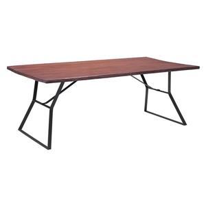 Table de salle à manger Omaha de Zuo Modern, 80,7 po x 29,9 po, bois, brun