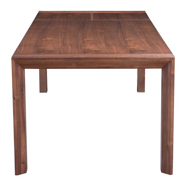 Table de salle à manger Pert de Zuo Modern, 94,5 po x 29,9 po, bois, brun