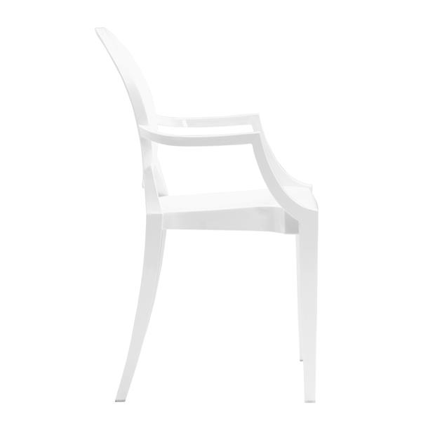 Zuo Modern Anime Dining Chair - 18-in x 17-in - White - Set of 4