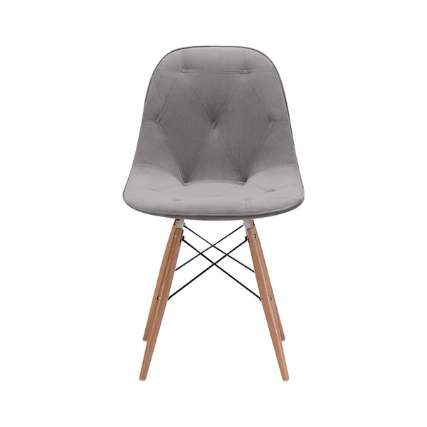 Zuo Modern Probability Dining chair - 19-in x 18.7-in - Grey Velvet